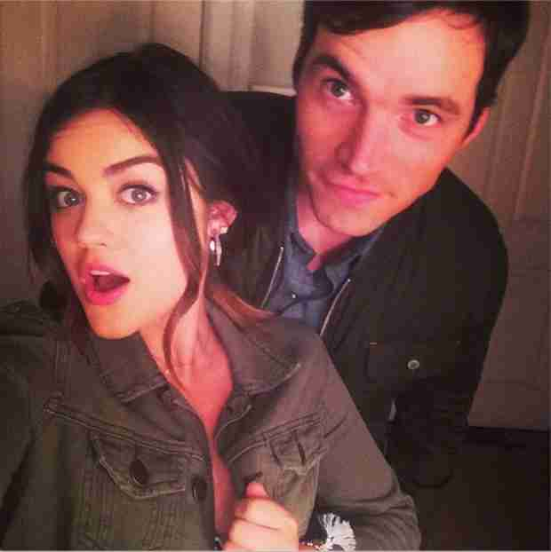 Lucy Hale and Ian Harding Are Matchy-Matchy on Pretty Little Liars Set (PHOTO)