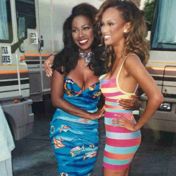 Kenya Moore and Tyra Banks Used to Be BFFs — Check Out the '90s Era Pic! (PHOTO)