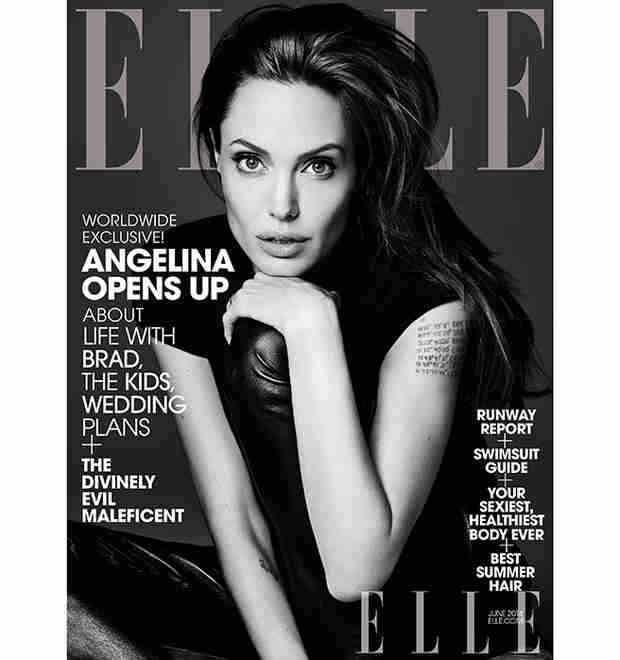 "Angelina Jolie Covers Elle's June 2014 Issue: ""I Never Thought I'd Have Children"""