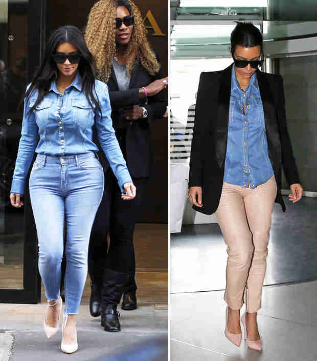 Kim Kardashian Wears the Same Shirt Two Days in a Row (PHOTOS)