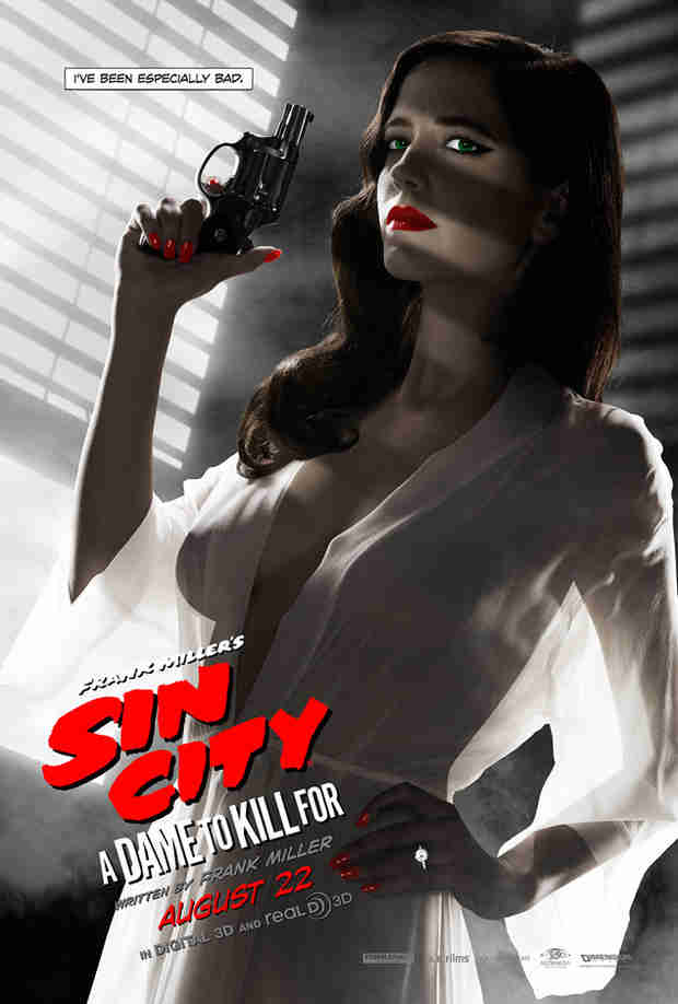 Eva Green's Sin City Poster Exposes Her Breasts — MPAA Censors! (PHOTO)