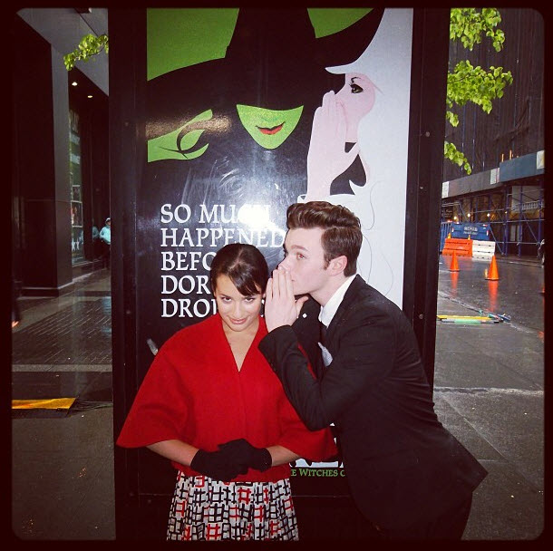 Lea Michele and Chris Colfer Engage in an Epic Battle: What's Going On? (VIDEOS)