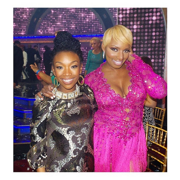 "Brandy Shows Support For ""Her Girl"" NeNe Leakes at DWTS — Are They Friends? (PHOTO)"