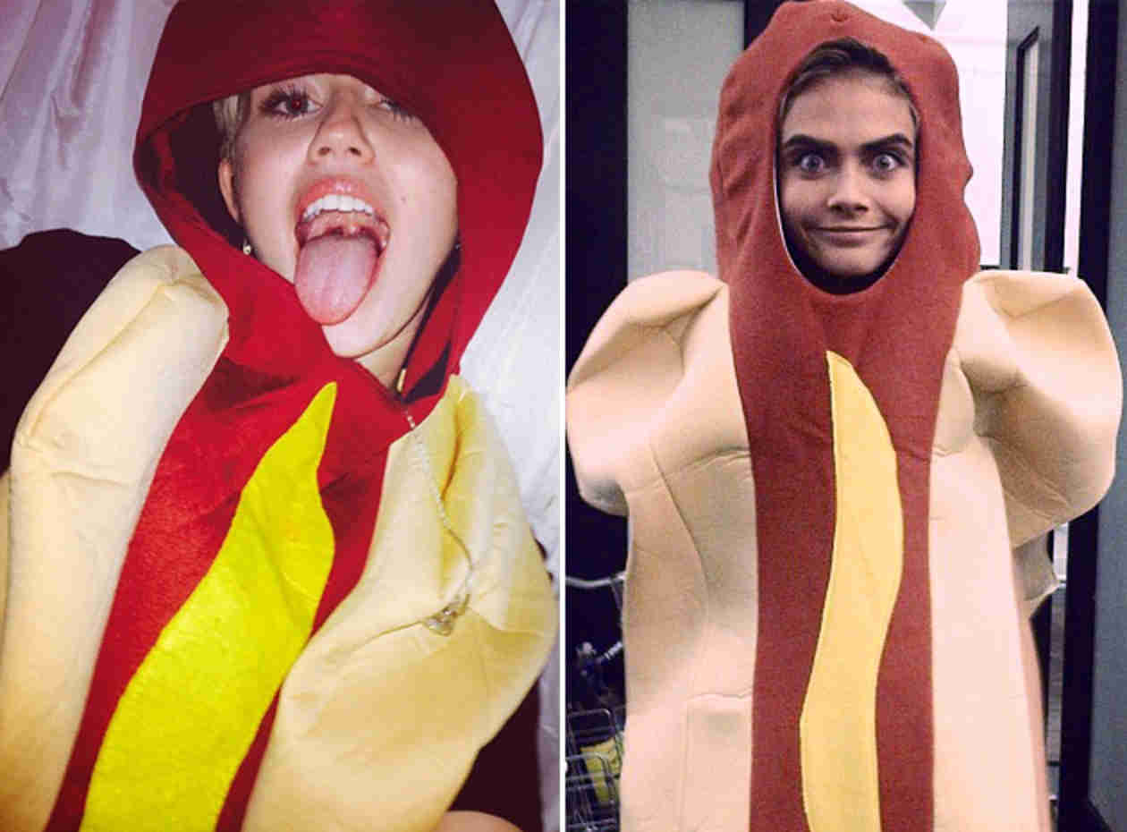 Who Wore it Better: Hot Dog Edition — Miley Cyrus or Cara Delevingne? (PHOTOS)