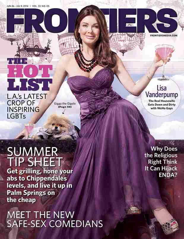 Lisa Vanderpump Goes Glam For Frontiers Magazine Cover (PHOTO)