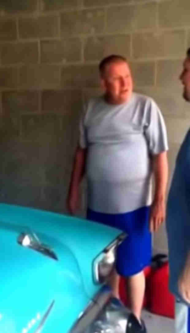 Son Keeps His Promise and Surprises Dad With Dream 1957 Chevy Bel Air (VIDEO)