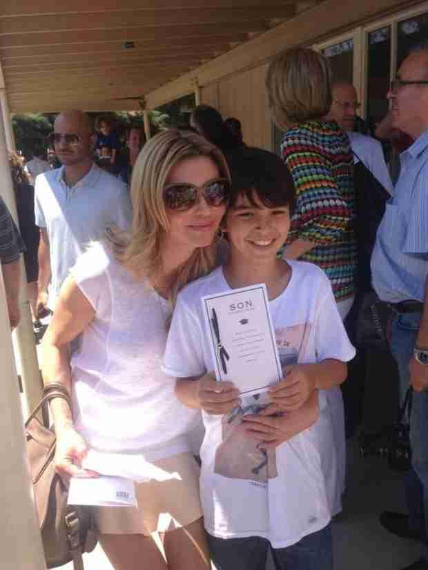 Brandi Glanville and LeAnn Rimes Celebrate Mason's 5th Grade Graduation (PHOTO)