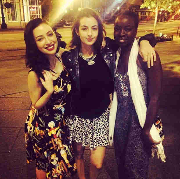 Christian Serratos, Alanna Masterson, and Danai Gurira Have a Girls' Night (PHOTO)