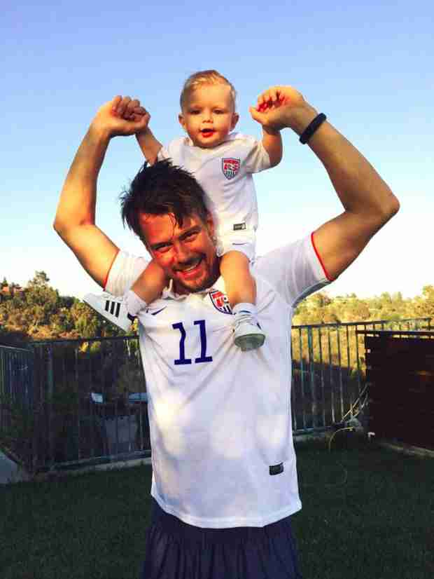 Josh Duhamel and Son Axl Watch World Cup Together — See the Cute Photo! (VIDEO)