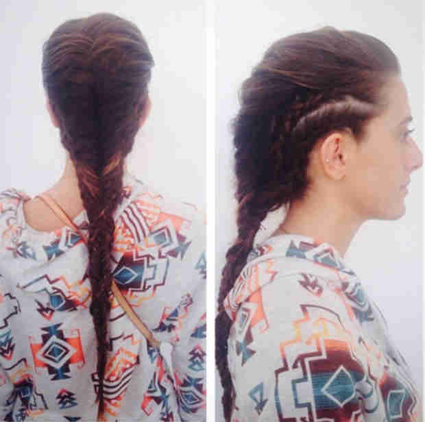 Check out Lexi Manzo's Wild Graduation Party Hair — Love the Braided Mohawk? (PHOTO)