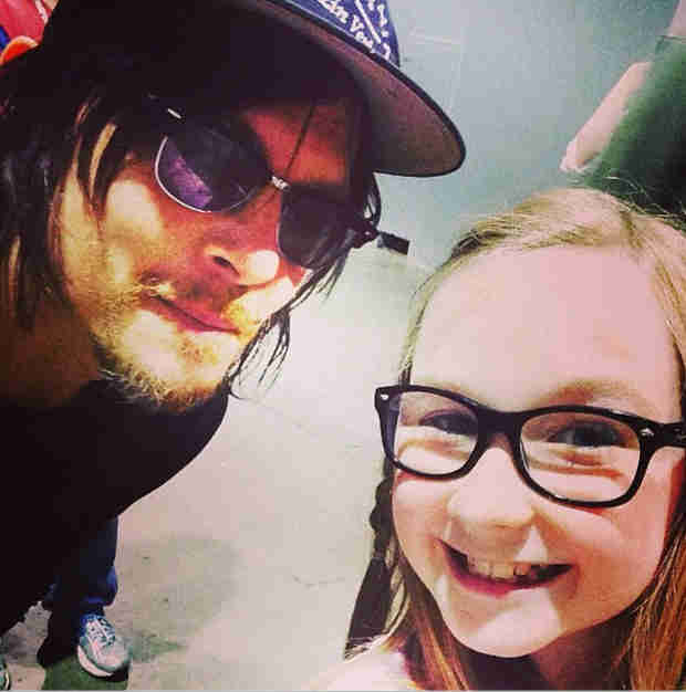Norman Reedus Posts Adorable Picture With Meyrick Murphy (PHOTO)