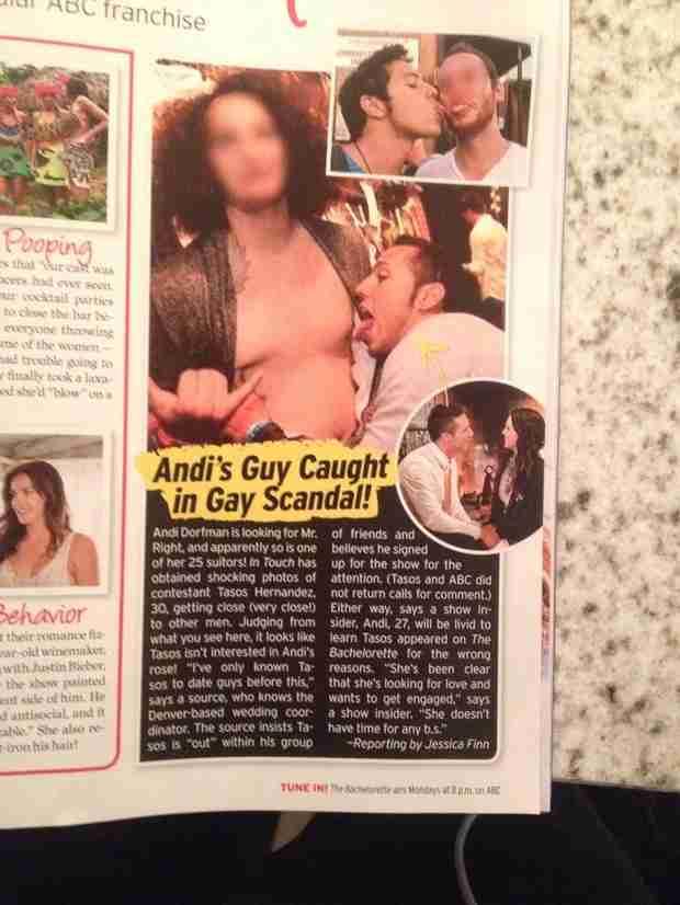 Bachelorette 2014's Tasos Hernandez Responds to Gay Rumors