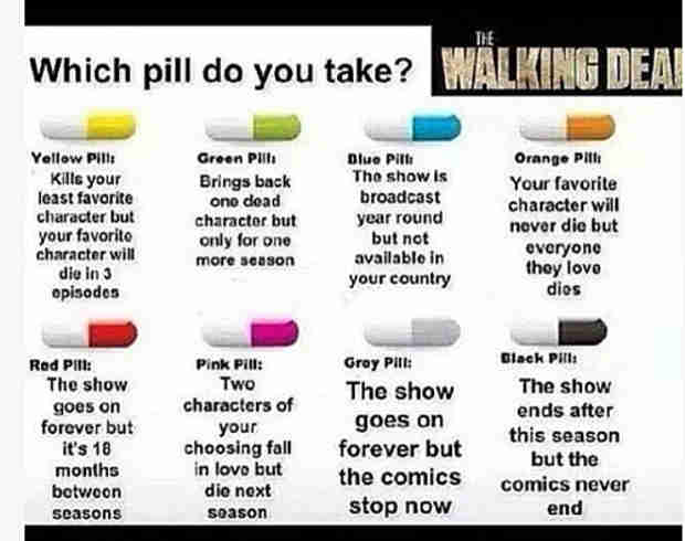 Which The Walking Dead Pill Would You Take — and Why? (PHOTO)