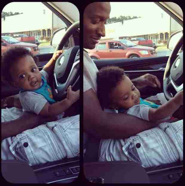 Kirk Frost Gives Baby Karter His First Driving Lesson! (PHOTOS)