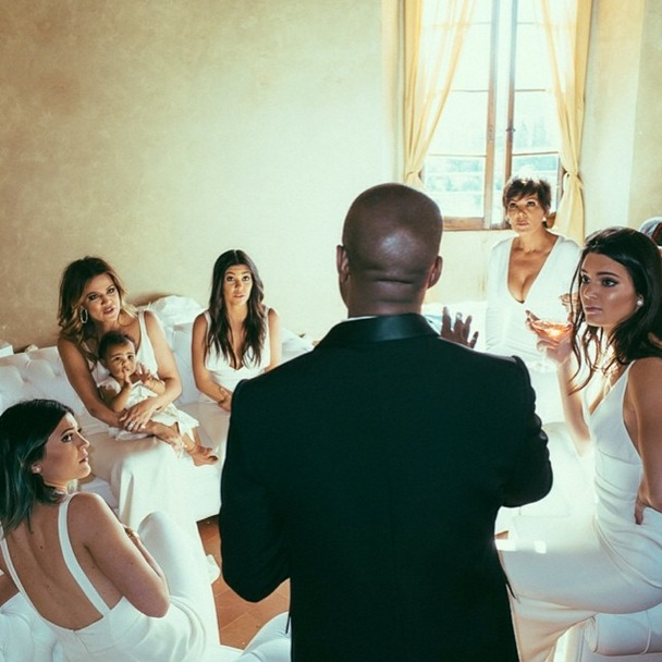 See Kim Kardashian's Wedding Family Photo: North West Looks Miserable! (VIDEO)