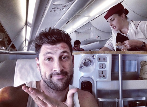Maksim Chmerkovskiy Heads to India to Guest Judge Dancing With the Stars (PHOTO)