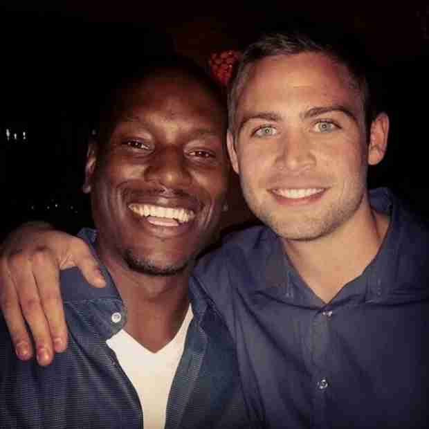 Fast & Furious 7 Wraps, Tyrese Celebrates With Paul Walker's Brothers (PHOTO)
