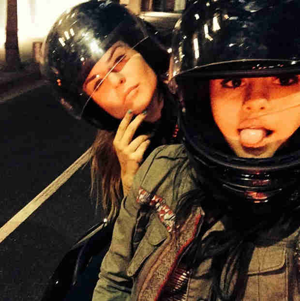 "JoJo and Selena Gomez Ride on Motorcycles While ""Terrorizing the Streets"" (PHOTO)"