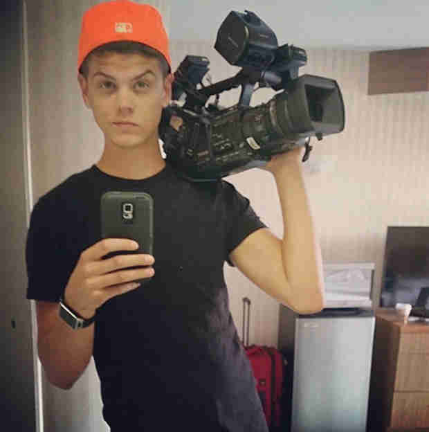Tyler Baltierra Poses With an MTV Camera — Is He Filming?