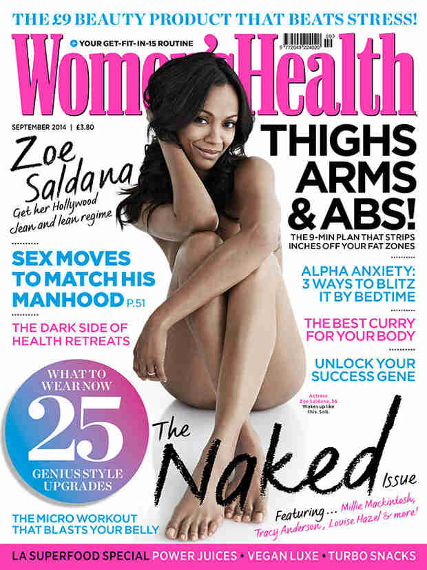"""Mom-to-Be Zoe Saldana Is """"Naked as a Baby's Butt"""" For Women's Health U.K. (VIDEO)"""