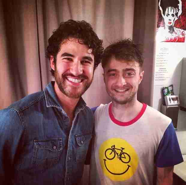 Darren Criss Shares Photo With Daniel Radcliffe — Two Harry Potters Meet!