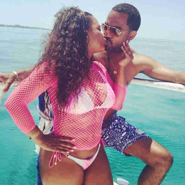 Bikini-Clad Kandi Burruss Shares PDA With Todd Tucker on a Yacht (PHOTO)