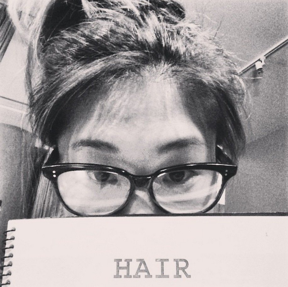 Jenna Ushkowitz Starts Hair Rehearsals (PHOTO)