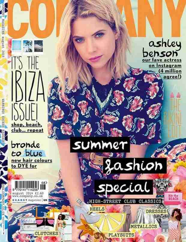 Ashley Benson Covers Company Magazine — Caught in a Floral Daze (PHOTO)