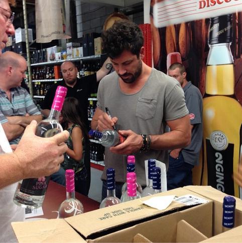 Maksim Chmerkovskiy Promotes New Vodka: Fans Line Up to Meet DWTS Pro! (VIDEOS)