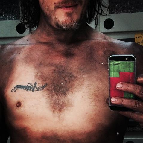 Norman Reedus Shows Off Bikini Lines, New Tattoo (PHOTO)