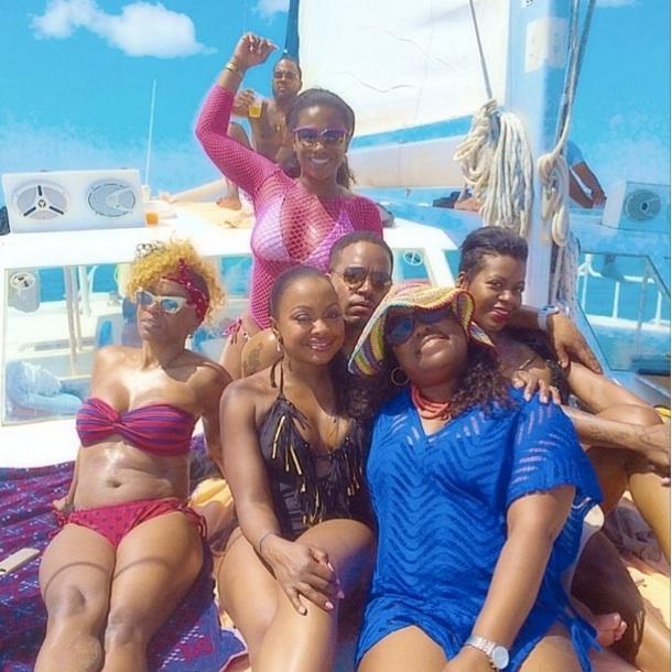 Kandi Burruss and Phaedra Parks Celebrate Fantasia Barrino's Birthday on a Yacht (PHOTO)