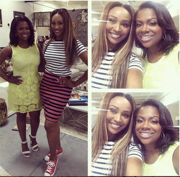 Kandi Burruss Hangs Out With Cynthia Bailey — Are They Filming Real Housewives of Atlanta Season 7?