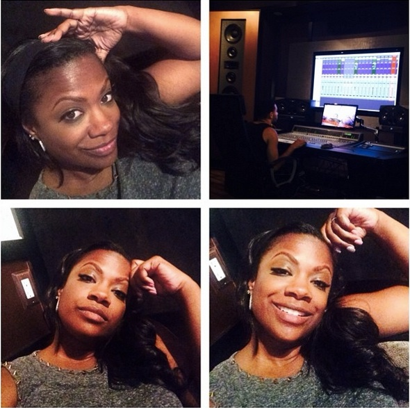 "Kandi Burruss Is in the Studio Working on ""Song Ideas"" (PHOTO)"