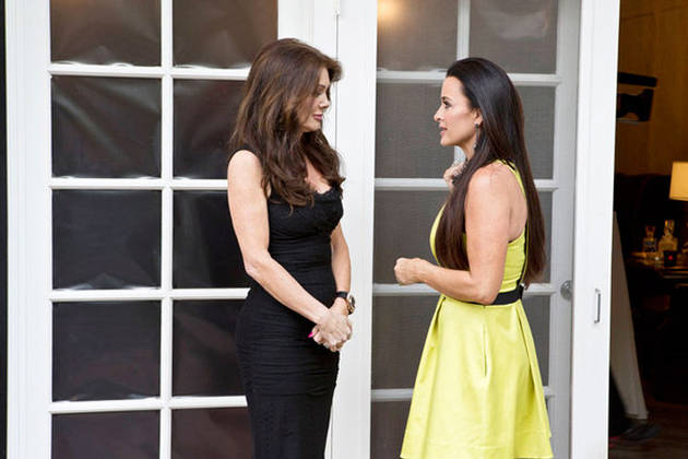 Lisa Vanderpump and Kyle Richards Hug While Filming Season 5!