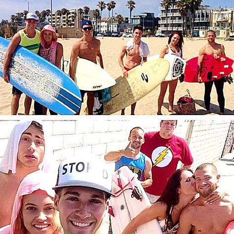 Peta Murgatroyd and James Maslow Go Surfing — Jeta Reunion! (PHOTOS)