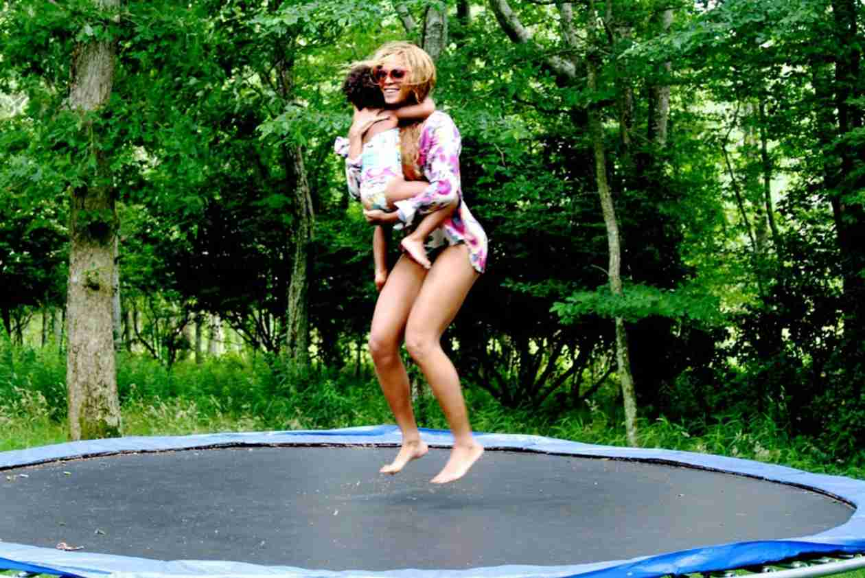 Beyonce Jumps On a Trampoline With Blue Ivy — See How Big She's Gotten! (PHOTOS)