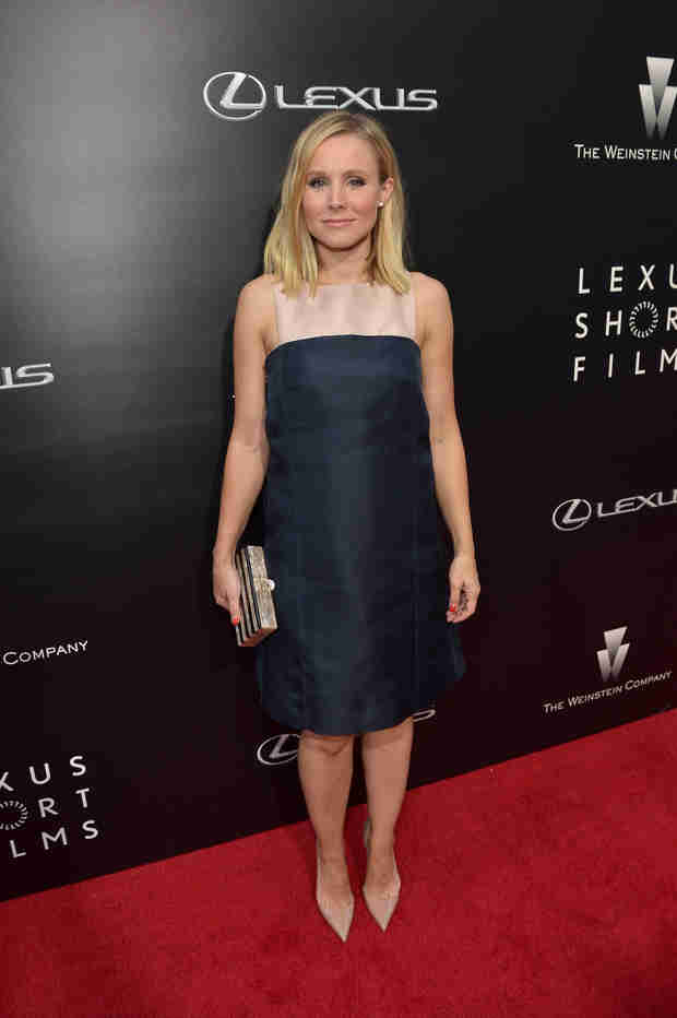 Kristen Bell Debuts Baby Bump No. 2 on the Red Carpet! (VIDEO)