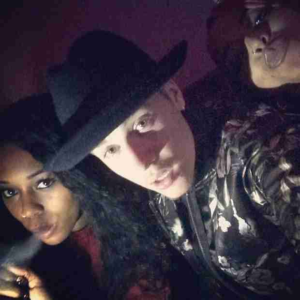 Bambi Has Night on the Town, Hangs With Justin Bieber?! (PHOTO)