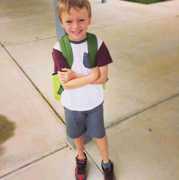 Maci Bookout Breaks Down on Bentley's First Day of Kindergarten (PHOTO)