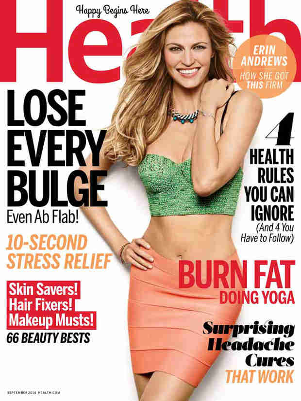 Erin Andrews Flaunts Flat Belly on the Cover of Health (PHOTO)