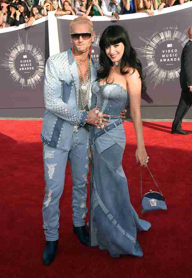 VMAs 2014: Katy Perry and Riff Raff Channel Britney Spears and Justin Timberlake in All Denim