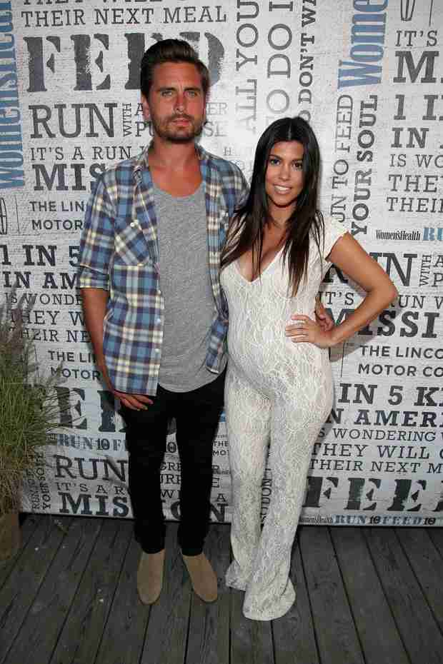 Pregnant Kourtney Kardashian Wows in White Lace Jumpsuit — Hit or Miss? (VIDEO)