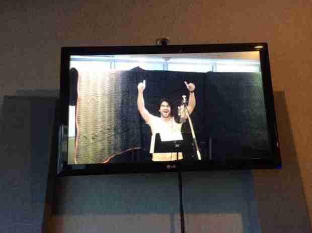 Glee Season 6: Darren Criss Is Back in the Recording Studio! (PHOTO)