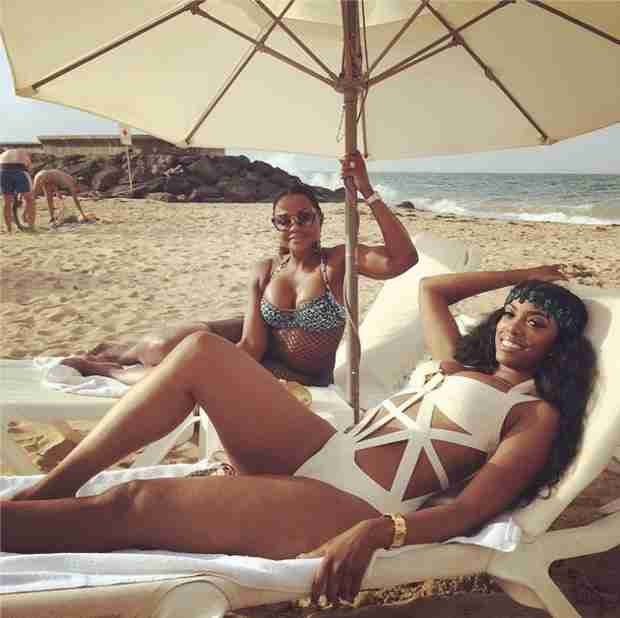 Phaedra Parks and Porsha Stewart Wear Sexy Bathing Suits to the Beach (PHOTO)