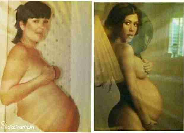 Kourtney Kardashian Posts Nude Pregnancy Throwback Pic of Herself and Kris Jenner