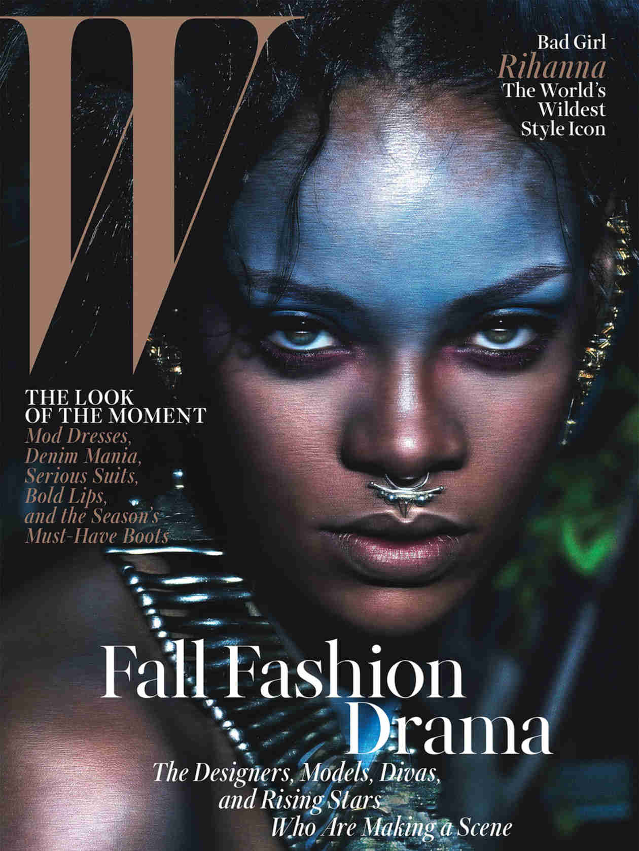 "Rihanna Is a ""Wild Child"" on W Magazine Cover — See Her Exotic Look (PHOTO)"