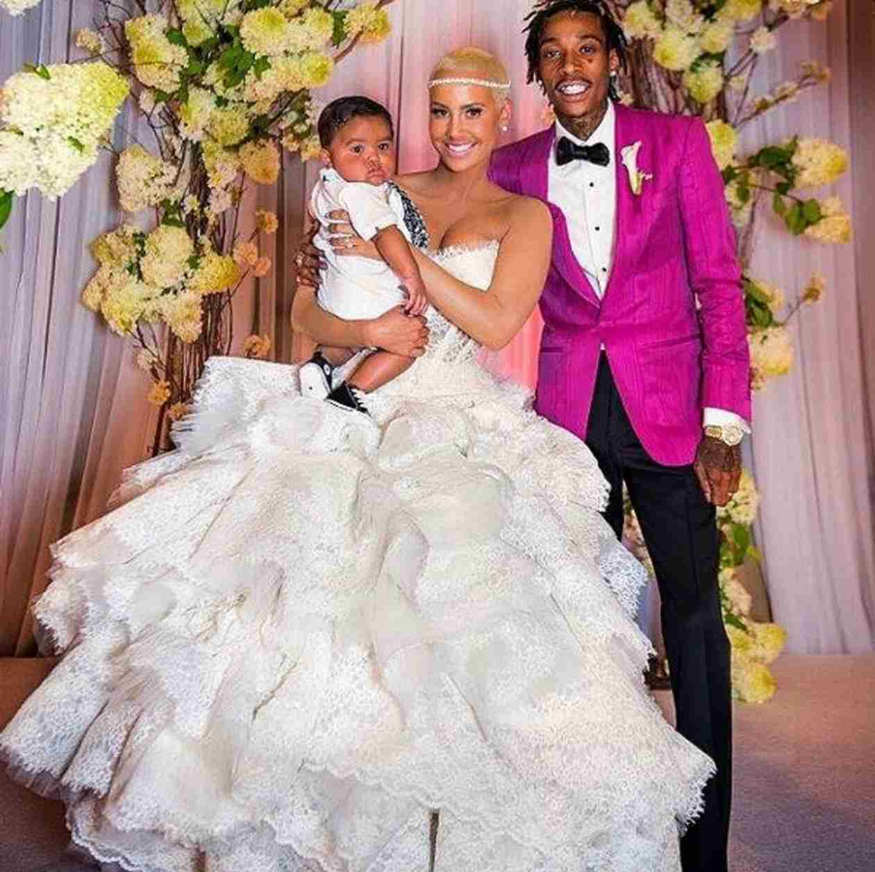 Amber Rose Shares Wedding Photos With Wiz Khalifa For Their Anniversary! (VIDEO)