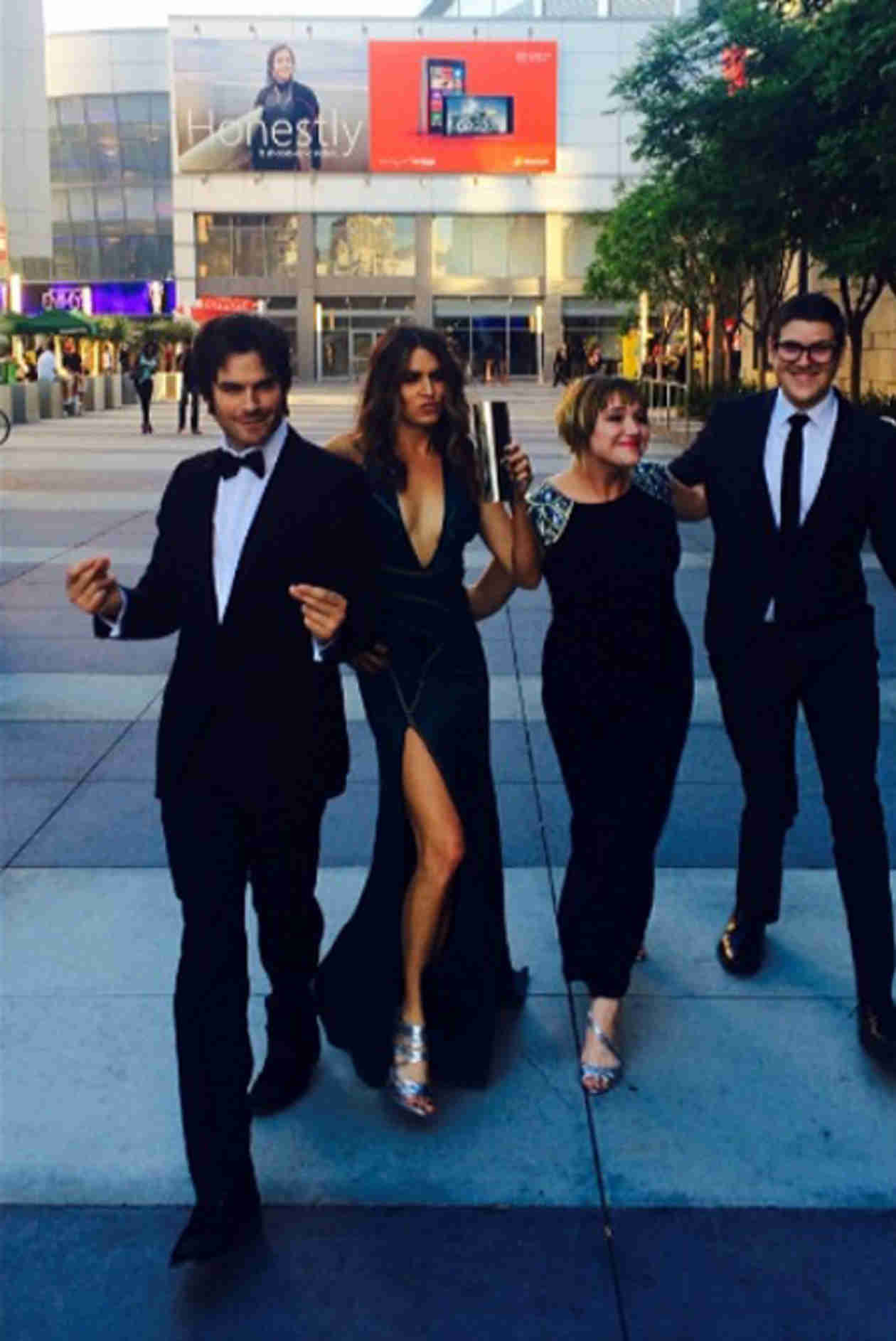 Ian Somerhalder Celebrates Emmy Win With Girlfriend Nikki Reed (VIDEO)