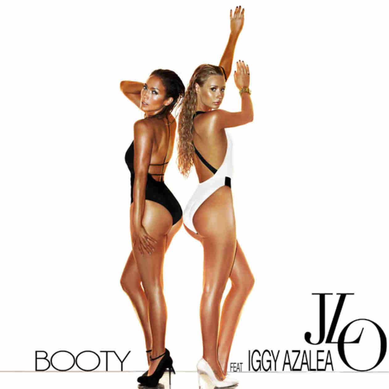 "Jennifer Lopez and Iggy Azalea Unveil ""Big Booty"" Remix, Super-Sexy Cover Art"