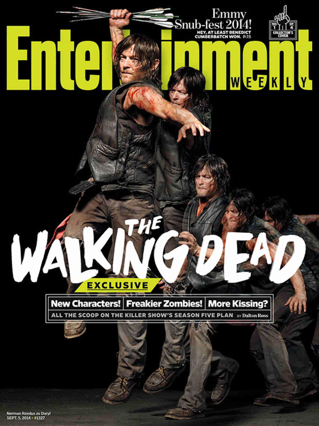 "The Walking Dead Season 5 Is ""Grown-Up"" — See Characters Beaten and Bloody on Entertainment Weekly Covers (PHOTOS)"